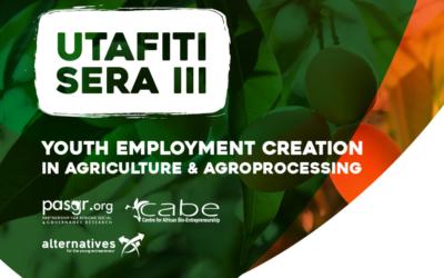 UTAFITI SERA III: Youths Employment Creation In Mango Value Chain-High Level Meeting
